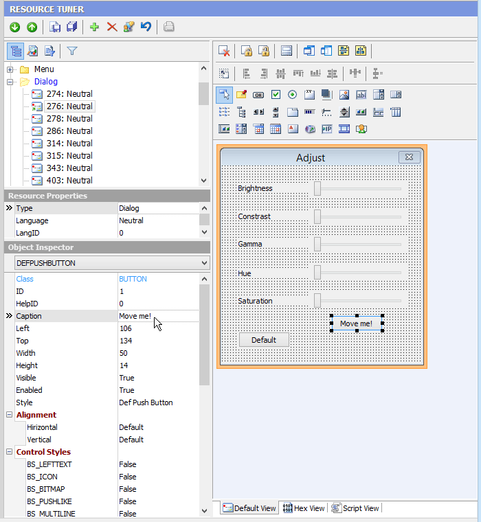 Resource Tuner, Resource Files Software Screenshot