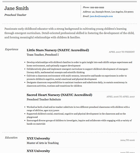 free resume templates best examples for all jobseekers