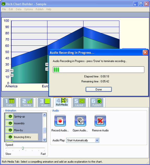 Business & Finance Software, Rich Chart Builder Screenshot