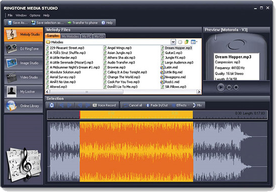 Ringtone Media Studio 2 Screenshot