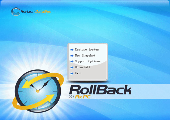 RollBack Rx, Security Software Screenshot