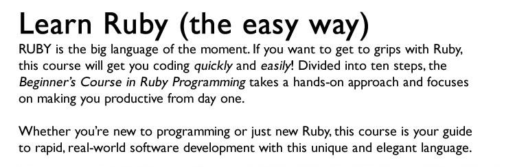 Ruby Programming for Beginners Screenshot