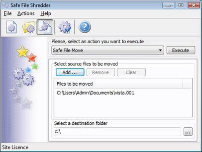 Safe File Shredder, Deletion Software Screenshot