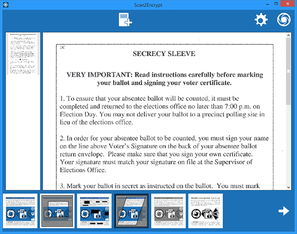 PDF Utilities Software, Scan2Encrypt Screenshot