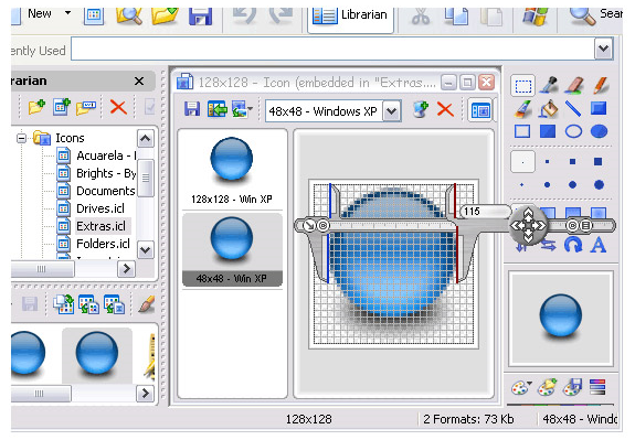 Screen Calipers, Design, Photo & Graphics Software Screenshot