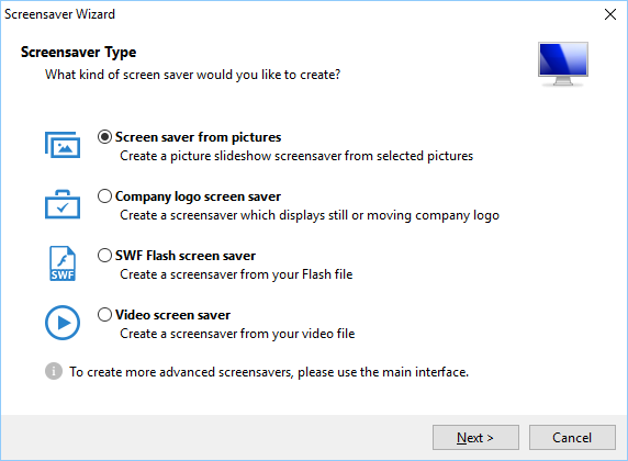 Screensaver Software Screenshot