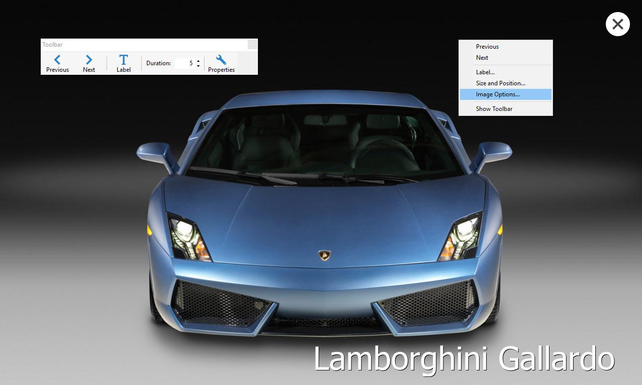 Screensaver Factory, Desktop Customization Software Screenshot