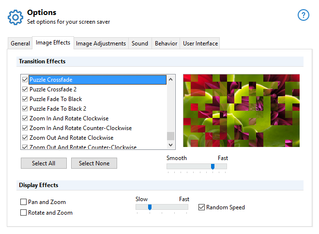 Screensaver Factory, Desktop Customization Software, Screensaver Software Screenshot