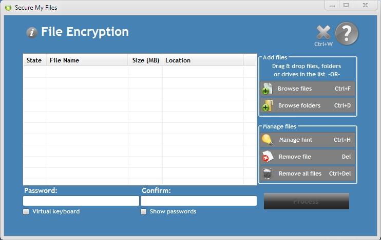 Secure My Files Screenshot