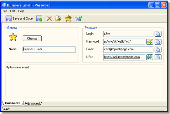 SecureSafe Pro, Password Manager Software Screenshot