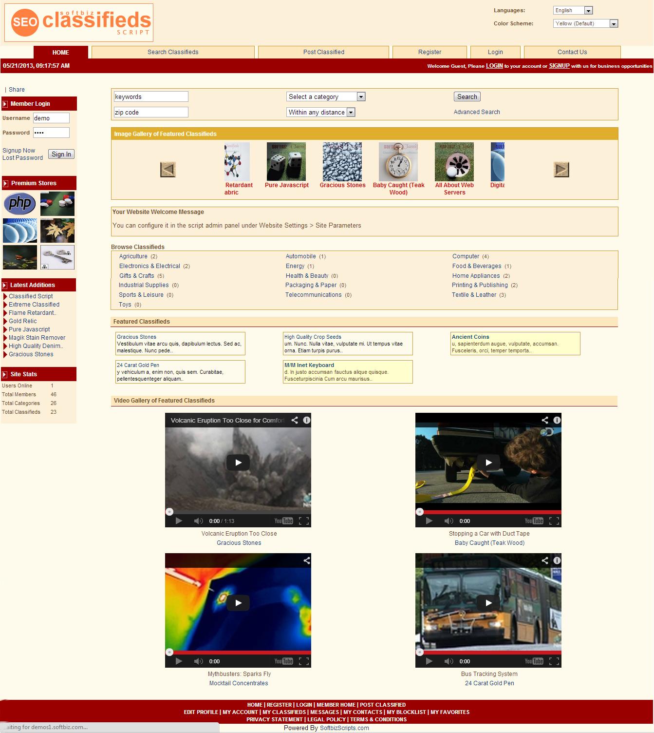 SEO Classifieds Script Screenshot
