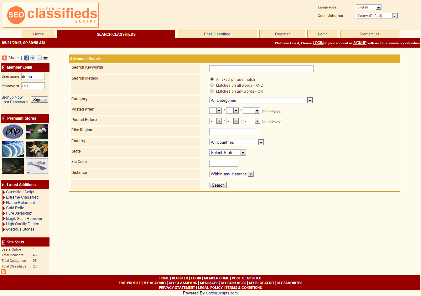 Website Builder Software Screenshot