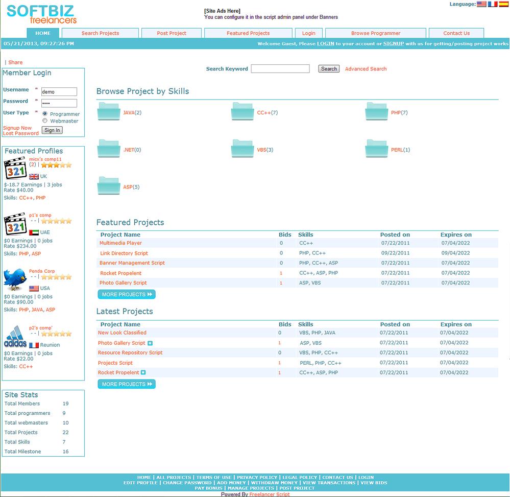 SEO Freelancers Script Screenshot