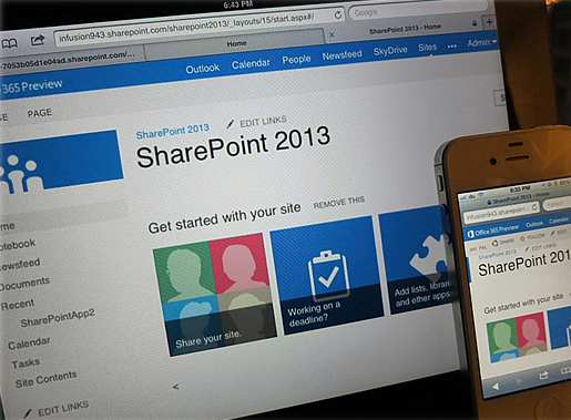 SharePoint 2013 Hosting Screenshot