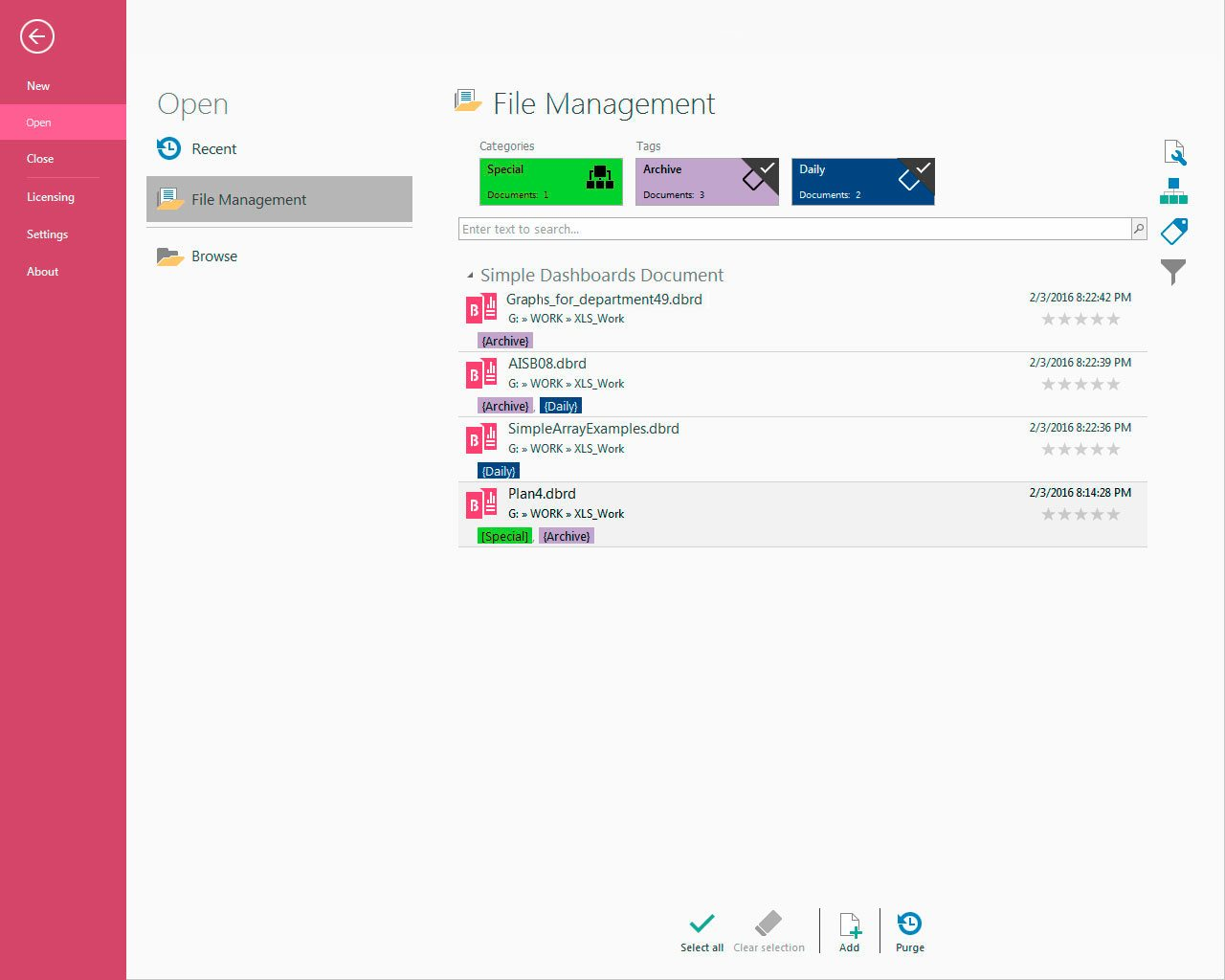 Simple Dashboards, Business & Finance Software Screenshot