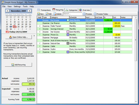 simple home budget screenshot personal finance software screenshot