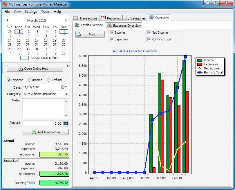 Simple Money Manager Standard Screenshot
