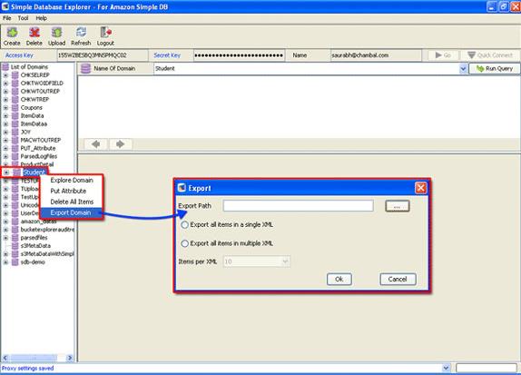 SimpleDB Explorer, Development Software Screenshot