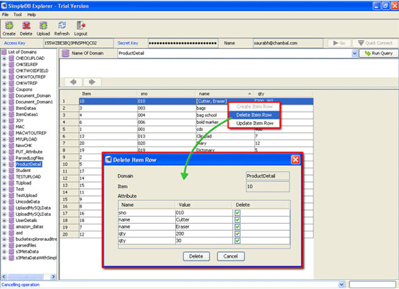 SimpleDB Explorer, Development Software, Database Management Software Screenshot