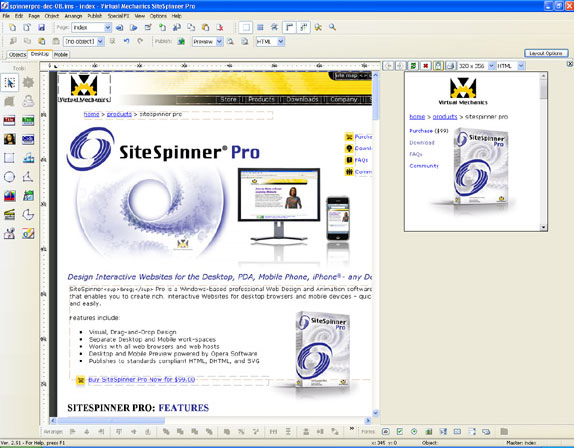 Development Software, Website Builder Software Screenshot