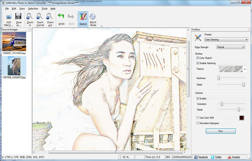 Sketch Drawer Screenshot