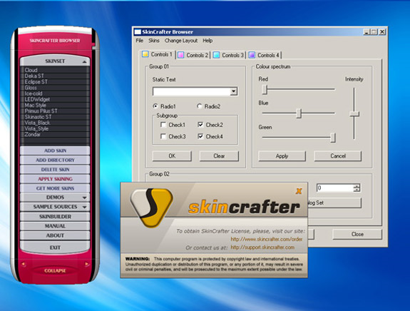 SkinCrafter ActiveX Screenshot