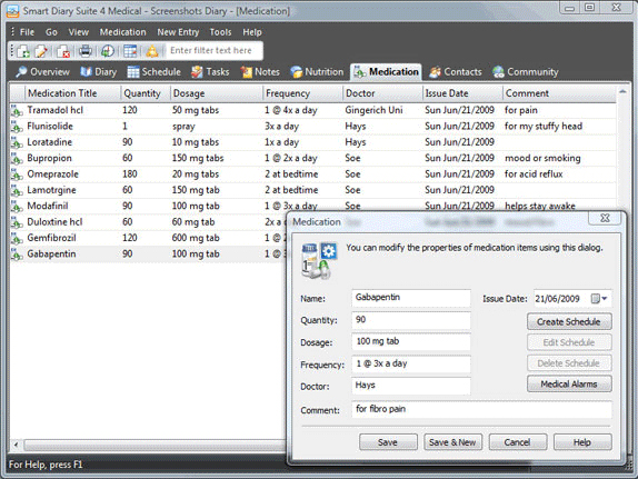 Smart Diary Suite 4 Medical, Software Utilities Screenshot