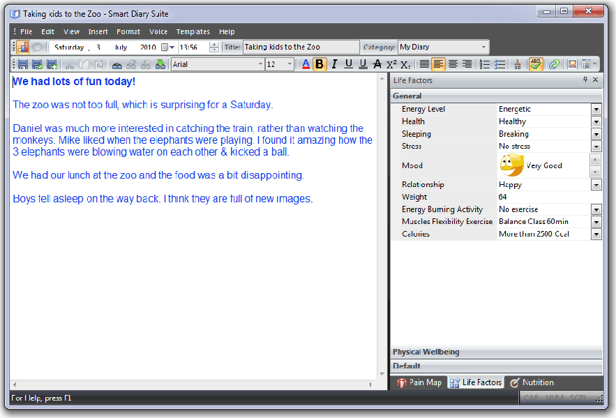 Productivity Software, Smart Diary Suite Lite Screenshot
