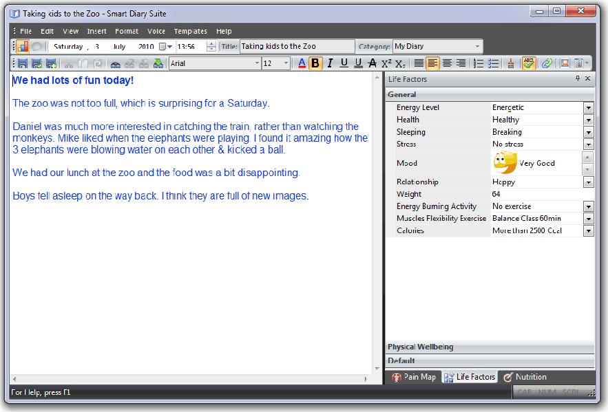 Productivity Software, Smart Diary Suite Lite Screenshot