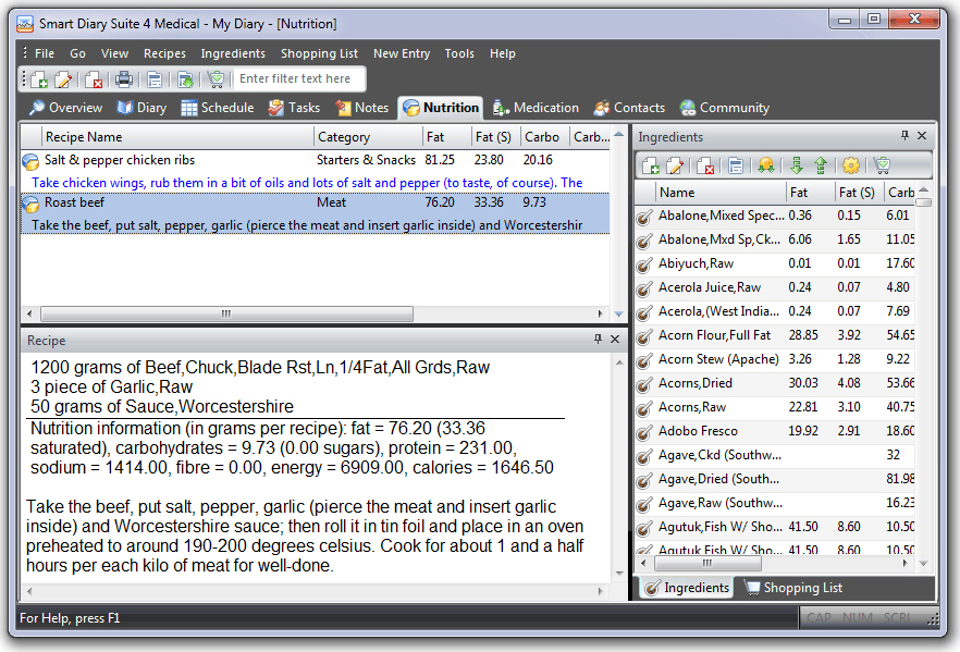 PIM Software, Smart Diary Suite Lite Screenshot