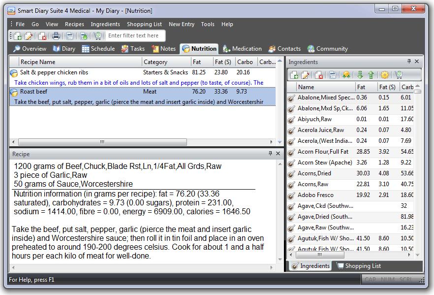 PIM Software, Smart Diary Suite Lite Screenshot
