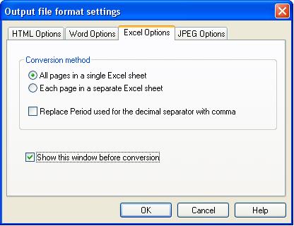 PDF Conversion Software, Smart PDF Converter Screenshot