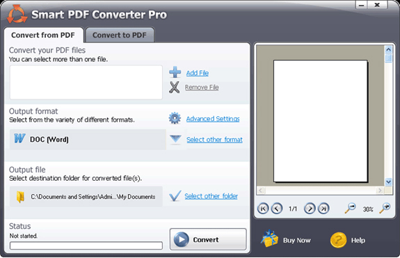 Smart PDF Converter Screenshot