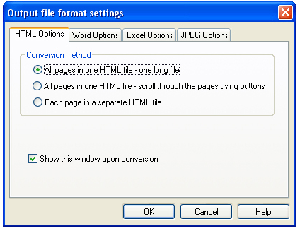 Smart PDF Converter, PDF Conversion Software Screenshot