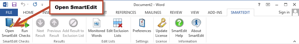 SmartEdit for Word, Word Processing Software Screenshot