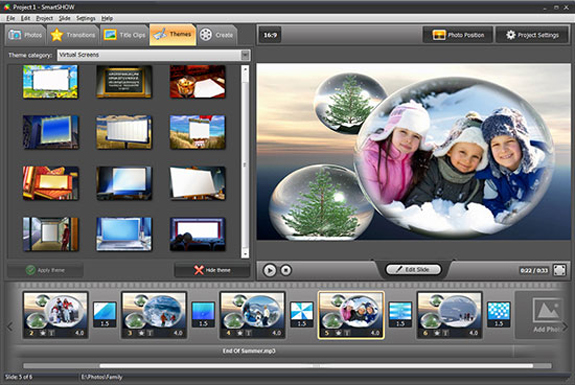 SmartSHOW, Design, Photo & Graphics Software Screenshot