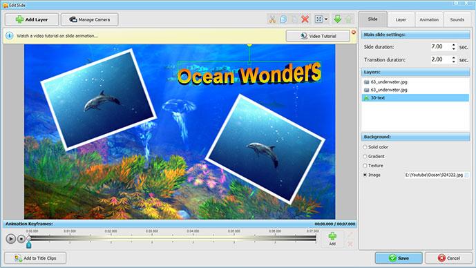 SmartSHOW 3D Deluxe, Slideshow Software Screenshot