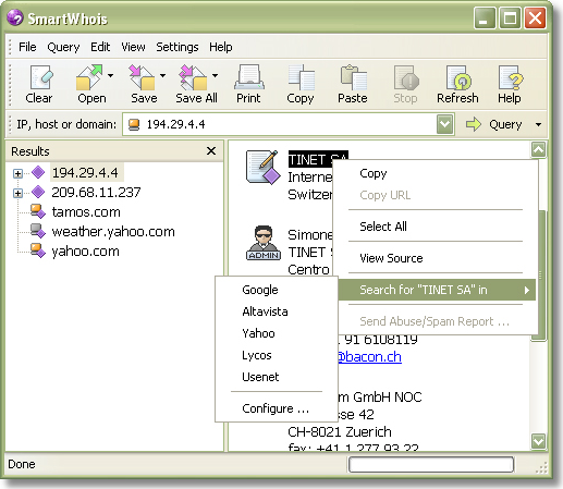 SmartWhois Screenshot 10
