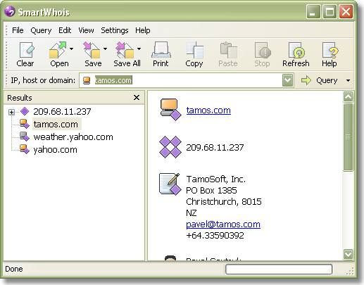 Internet Software, SmartWhois Screenshot