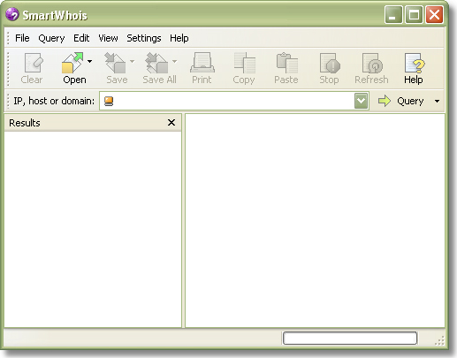SmartWhois, Network Software Screenshot