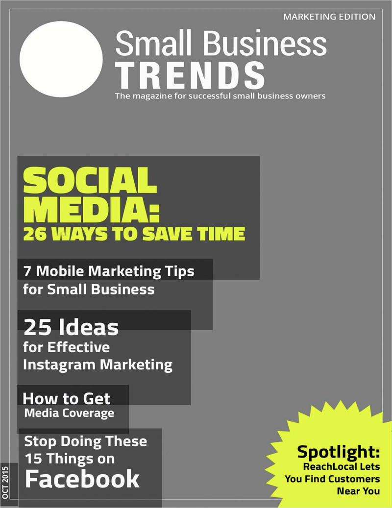 Social Media: 26 Ways to Save Time -- Marketing Issue Screenshot