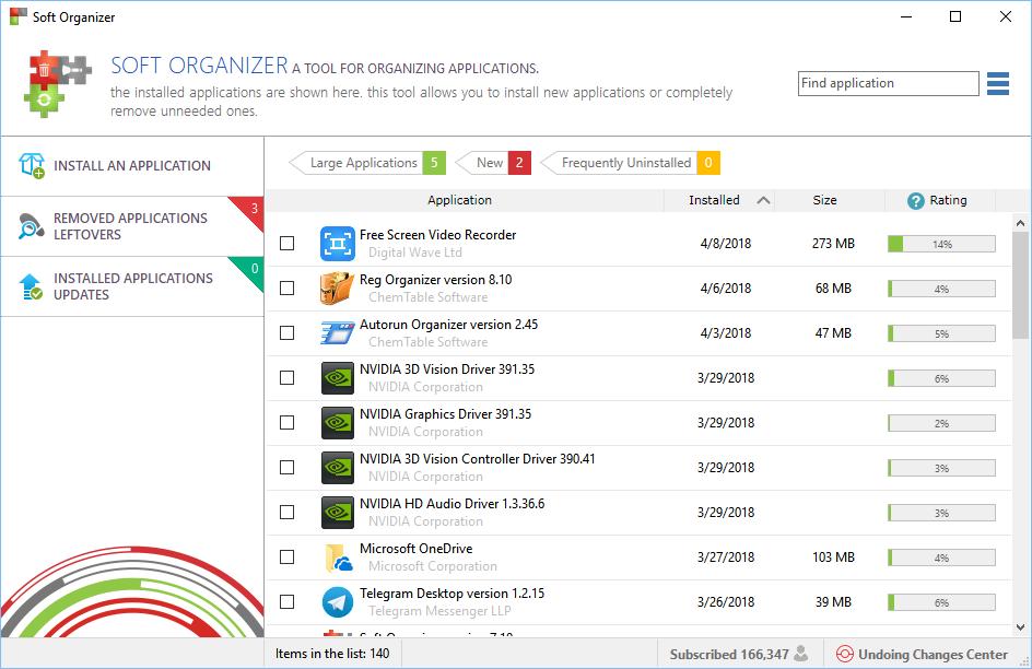 Soft Organizer Screenshot