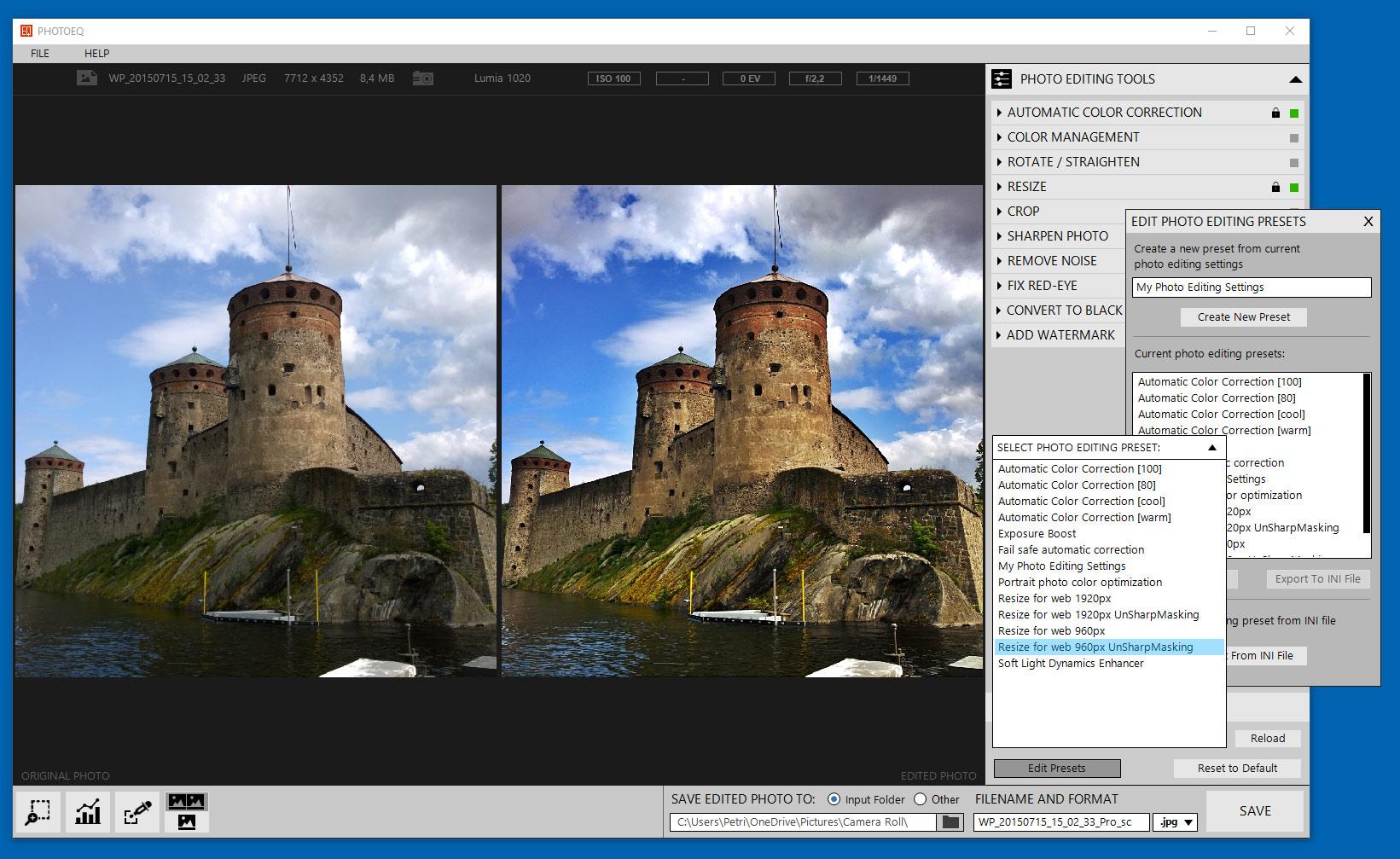 SoftColor PhotoEQ, Design, Photo & Graphics Software Screenshot