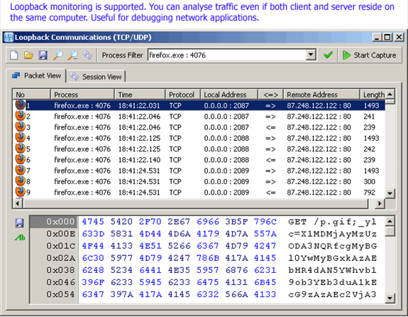 SoftPerfect Network Protocol Analyzer, Network Software Screenshot