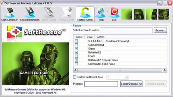 SoftRescue Gamers Edition Screenshot