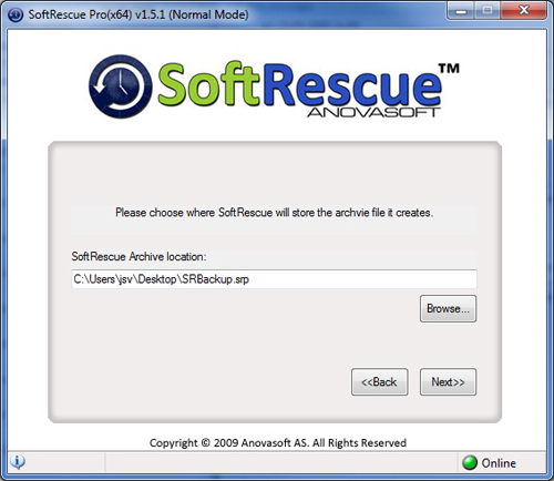 SoftRescue Pro Edition, Access Restriction Software Screenshot