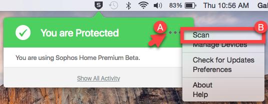 Sophos Home Premium, Antivirus Software Screenshot