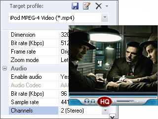 Sothink iPod Video Converter, Video Converter Software Screenshot