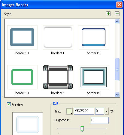 HTML Widget Software, Sothink JavaScript Web Scroller Screenshot