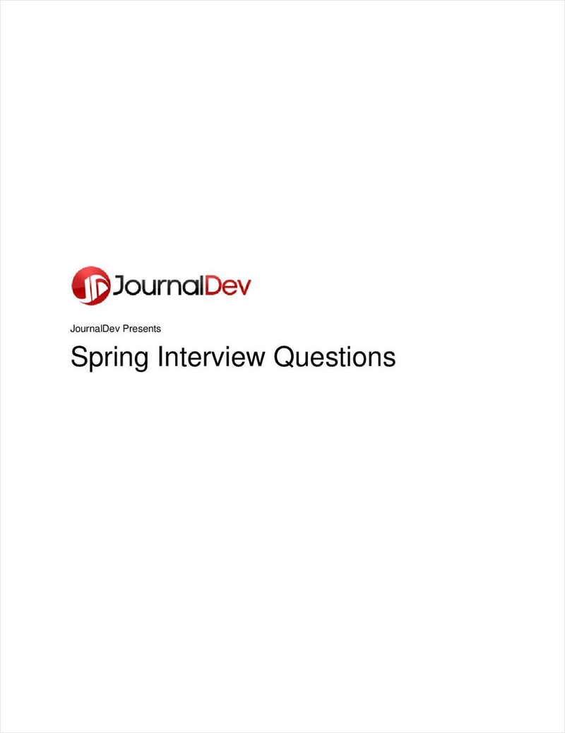 Spring Interview Questions and Answers Screenshot